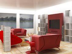 Red Living Room Sets by Decoration De Salon Rouge Et Blanc Solarium Pinterest