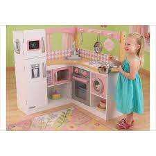grande cuisine enfant cuisine pour enfant en bois grand gourmet corner kitchen de kidkraft