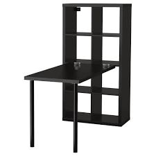 Small Ikea Desk Kallax Desk Combination Black Brown 77x147 Cm Ikea