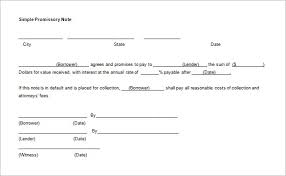 6 free promissory note templates excel pdf formats