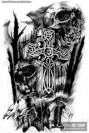 diseño de cruces calaveras cementerios tatoo tattos and tattoo