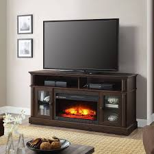 tv stand 70 u2033 media fireplace wood entertainment storage console