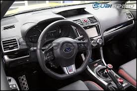 black subaru subaru oem silver and piano black dash trim 15 wrx sti 13 18