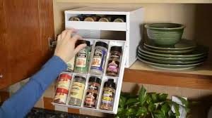 Kitchen Cabinet Spice Organizers by Youcopia Spicestack Spice Racks Organizer For Kitchen Cabinets