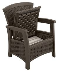 Patio Club Chair Suncast Elements Outdoor Furniture Club Chair With Storage