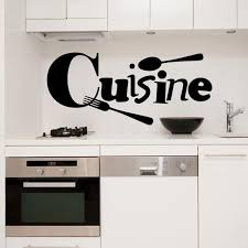 decor mural cuisine 2018 cuisine fork wall stickers vinyl poster