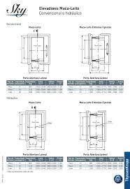 Common Elevador - dados técnicos #EC49