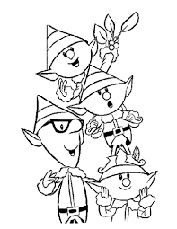 elf coloring page chuckbutt com