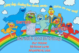 sesame street 1st birthday invitations images invitation design