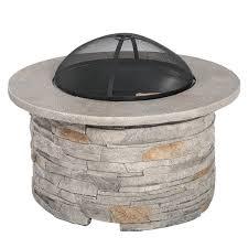 Firepit Wood Winnett Faux Wood Burning Pit Table Reviews Allmodern