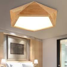 wood flush mount ceiling light creative wooden led ceiling ls lights flush mount led ceiling