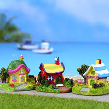 shop 3pcs house villa succulents pots decorated