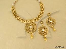 gold antique necklace sets images Polki necklace sets delicate gold antique necklaces jpg