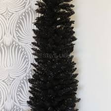 Black Angel Christmas Tree Topper Uk by Black Artificial Pine Pencil Christmas Tree