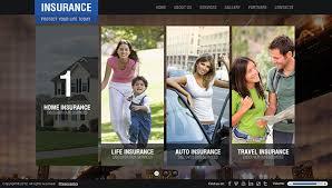 insurance company html5 template 300111421 on behance