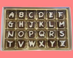 i miss your cubic chocolate letters long distance