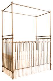 Bratt Decor Crib Joy Canopy Crib Vintage Gold Traditional Cribs By Bratt