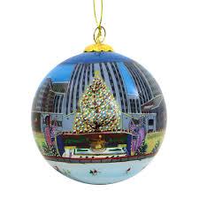 center christmas tree glass ball ornament
