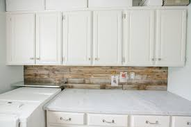 wood backsplash kitchen plank backsplash cottage laundry room tiek built homes