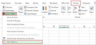 how to hide row and column headings from all worksheets