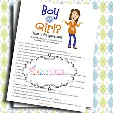 old wives tales baby shower game coed boy or trivia