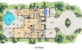 mediterranean style floor plans mediterranean style house plan 6 beds 7 50 baths 7395 sq ft plan