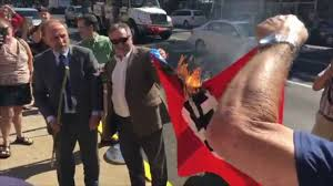 Burning Red Flag Confederate Flag Burning In Bloomsburg Youtube