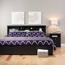 amazon com prepac sonoma black king storage headboard king bed