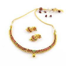 necklace simple images Anvi 39 s simple kempu necklace wth jhumkas necklace buy in india jpg