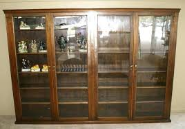 glass bookcase doors antique wood bookcase glass doors bookcase