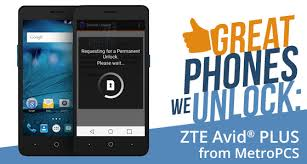 metro pcs prepaid card phones we unlock zte avid plus from metropcs