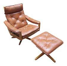 Recliner Chair Lied Mobler Mid Century Leather Recliner Chair U0026 Ottoman Chairish