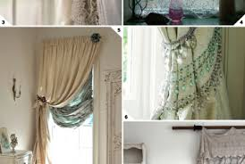 window treatment style shabby chic curtains rods and