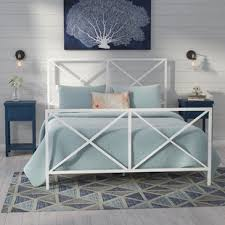 Antique White Metal Bed Frame Antique White Metal Bed Wayfair