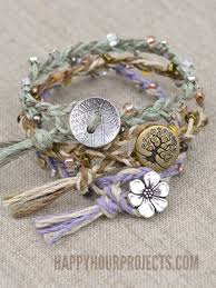 beading bracelet clasp images Diy beaded button clasp hemp bracelets happy hour projects jpg