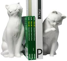 Unique Bookends Amazon Com Danya B Cat Bookend Set White Home U0026 Kitchen