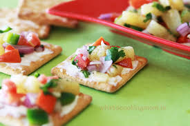 indian canapes ideas pineapple salsa canapes whats cooking