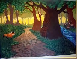 Forest Mural by The Talking Walls Wall 1 Finished