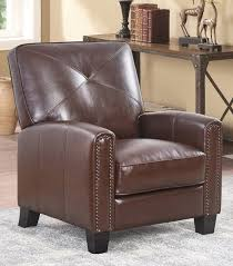 recliners carlsbad pushback leather recliner brown