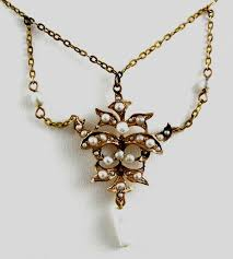 gold necklace vintage images Estate jewelry gold trocadero jpg
