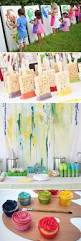 Birthday Decoration Ideas For Kids At Home At Home Painting Party For 8 Year Old U0027s Birthday Party So Much