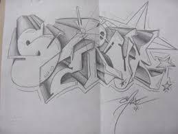 draw ing graffiti sketches