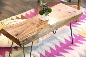 reclaimed live edge slab furniture woodwaves