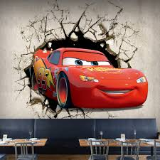 compare prices on car murals for walls online shopping buy low custom size 3d broken wall cartoon car photo mural for kid s room bedroom living room home