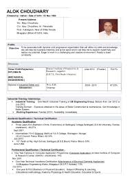 Sample Resume For Mechanical Engineers by Sample Resume For Android Freshers Templates