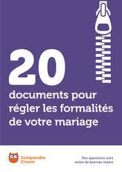 documents mariage 20 documents pour régler les formalités de votre mariage à