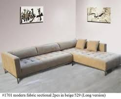 Tufted Sectional Sofas 2pc Modern Fabric Tufted Sectional Sofa 1701 In Beige Large