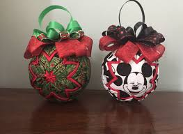 the gift crafted fabric ornaments disney