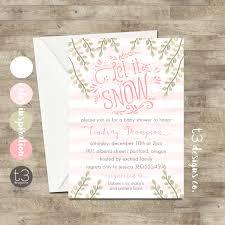 winter baby shower girl winter invitation winter baby shower invitation