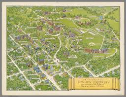 Ohio University Campus Map by A View Of The Campus Denison University David Rumsey
